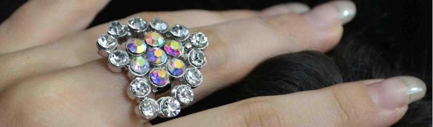 Bijoux fantaisie pas cher. Bagues strass | Les Bijoux de Camille