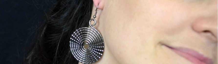 Grand choix de boucles d'oreilles fantaisie en métal doré ou argenté, orientales, pas cher | Les Bijoux de Camille