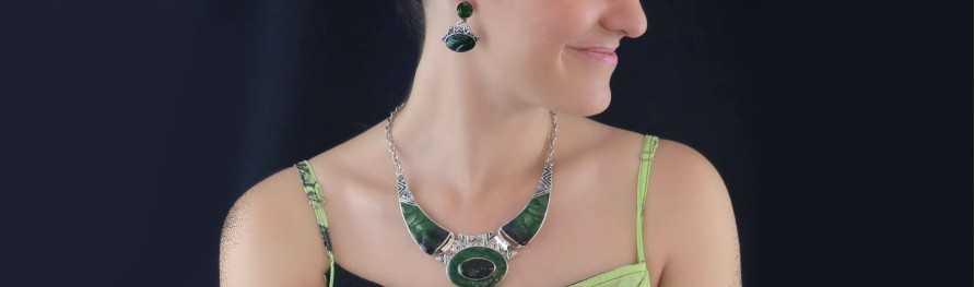 Bijoux fantaisie pas cher. Parures rehaussées d'émail | Les Bijoux de Camille