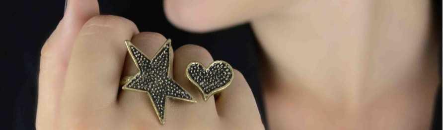 Bagues fantaisie à anneaux multiples